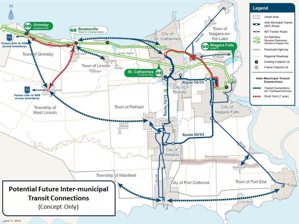 niagara transit potential map